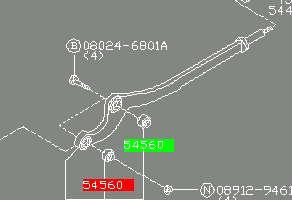 Сайлентблок нижнего переднего рычага  NISSAN 54560VB012