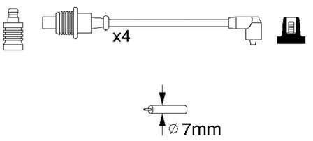 Фото: Провода высоковольтные, комплект Citroen BX