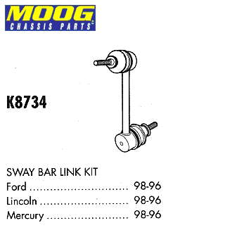 стойка стабилизатора переднего левая  XF1Z5K483AA