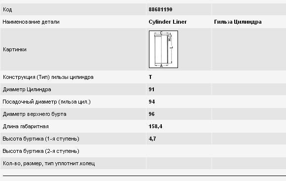 гильза поршневая  SU351119