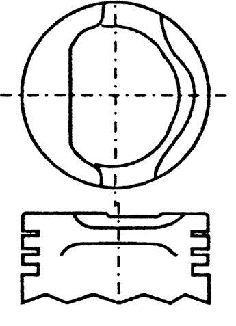 поршень в комплекте на 1 цилиндр, 4-й ремонт (+1,00)  PN34152
