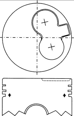поршень в комплекте на 1 цилиндр, 4-й ремонт (+1,00)  PN34252