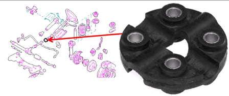 муфта рулевого кардана - bmw 3