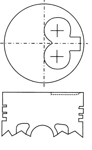поршень в комплекте на 1 цилиндр, std  RF0123200STD