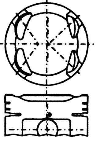 поршень в комплекте на 1 цилиндр, 2-й ремонт (+0,50)  PN31081