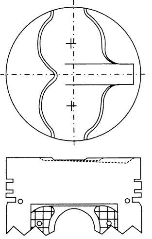 поршень в комплекте на 1 цилиндр, 4-й ремонт (+1,00)  PN33032