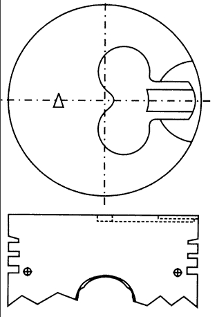 поршень в комплекте на 1 цилиндр, 2-й ремонт (+0,50)  PN32031