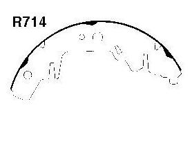 колодки тормозные задние барабанные  Z714R