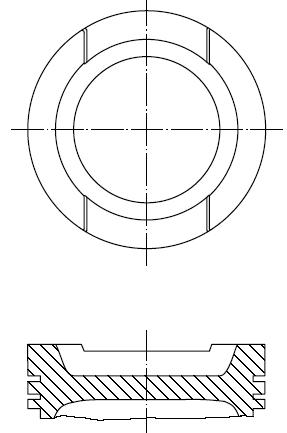 поршень в комплекте на 1 цилиндр, 1-й ремонт (+0,25)  PN51062