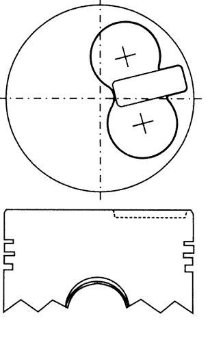 поршень в комплекте на 1 цилиндр, 4-й ремонт (+1,00)  PN34222