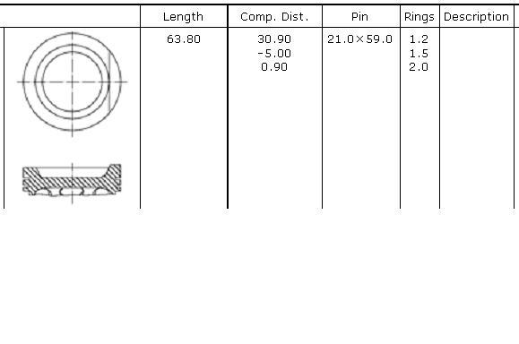 поршень в комплекте на 1 цилиндр, 4-й ремонт (+1,00)  PN51042