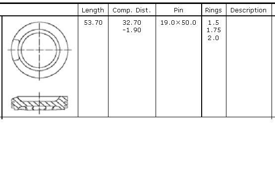 поршень в комплекте на 1 цилиндр, 1-й ремонт (+0,25)  PN51212