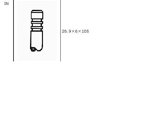 клапан впускний  VI51005