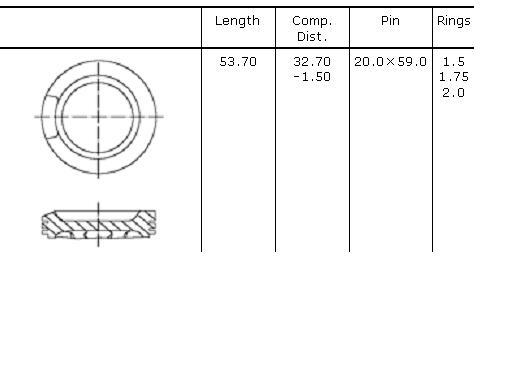 поршень в комплекте на 1 цилиндр, 1-й ремонт (+0,25)  PN51102