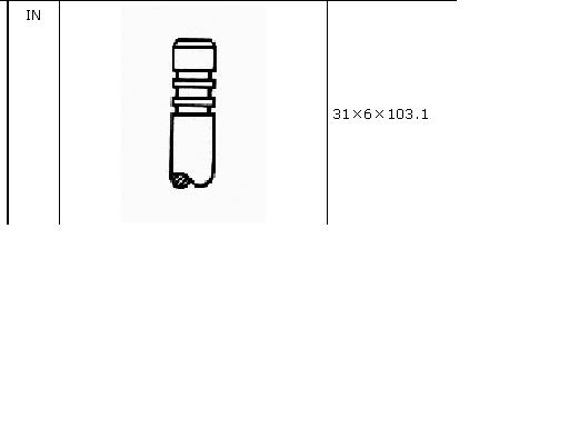 клапан впускний  VI53000