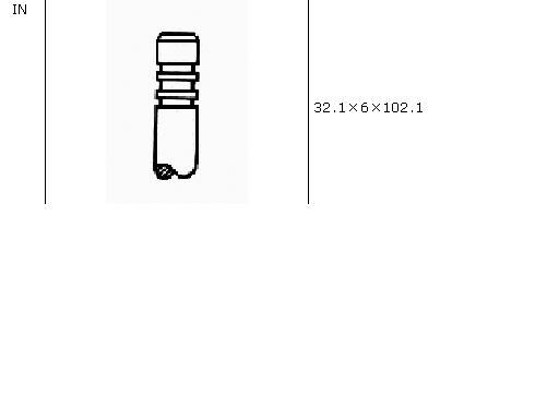 клапан впускний  VI53002