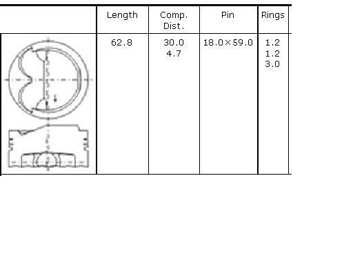 поршень в комплекте на 1 цилиндр, 4-й ремонт (+1,00)  PN34022