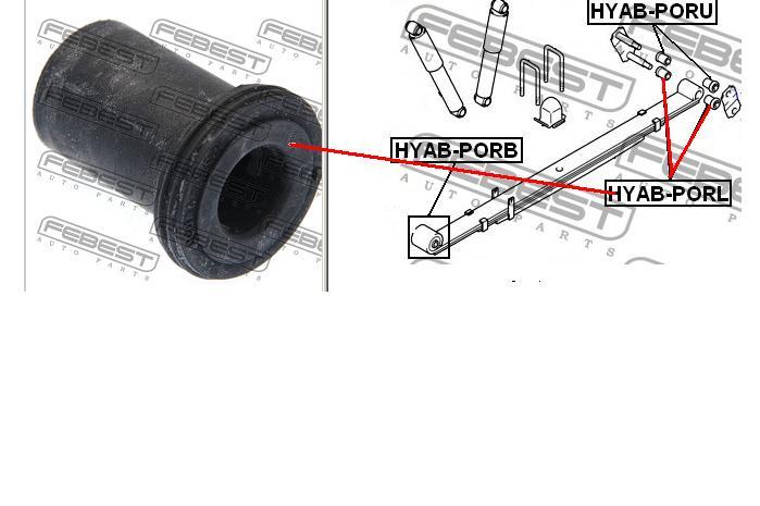 hyundai h1 комплект задней сайлентблок рессоры