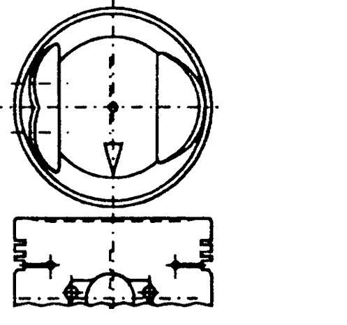 поршень в комплекте на 1 цилиндр, 2-й ремонт (+0,50)  PN32311