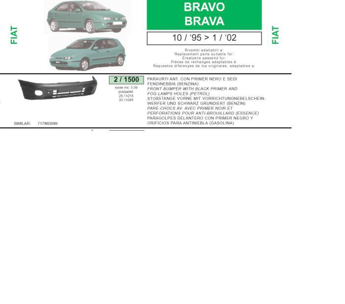 Фото: Бампер передній Fiat Brava