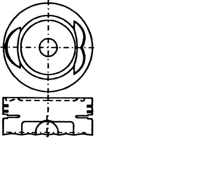 поршень в комплекте на 1 цилиндр, 4-й ремонт (+1,00)  PN31072