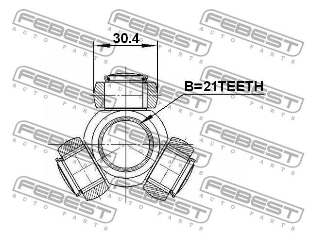 Трипоид внутреннего шруса форд фиеста 1.4 tdci