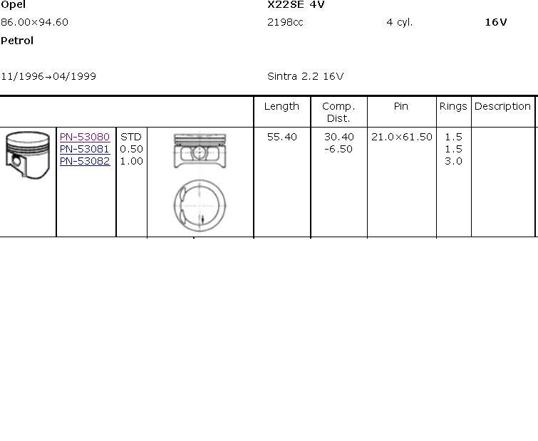поршень (комплект на мотор), 4-й ремонт (+1.00)  39229100