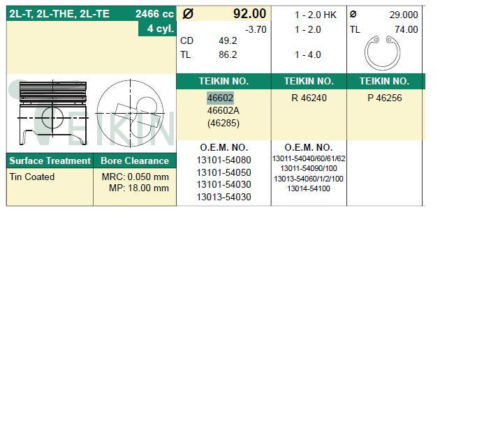 поршень в комплекте на 1 цилиндр, 4-й ремонт (+1,00)  PN34082
