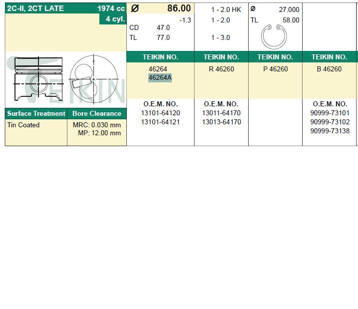 поршень в комплекте на 1 цилиндр, 4-й ремонт (+1,00)  PN34182
