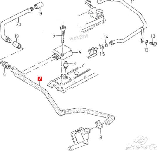 патрубок вентиляции картера (маслоотделителя)  V103210