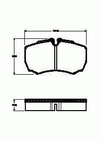 Фото: Колодки тормозные задние дисковые Iveco Daily