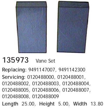 ремкомплект вакуумного насоса  135973