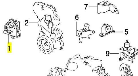 5110076AB Chrysler подушка (опора двигателя правая)