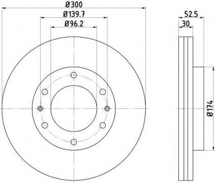 92203800 Textar диск тормозной передний (Вентилируемый)