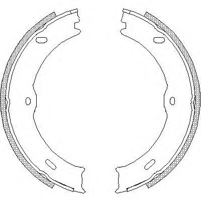 колодки ручника (стояночного тормоза)  Z474600