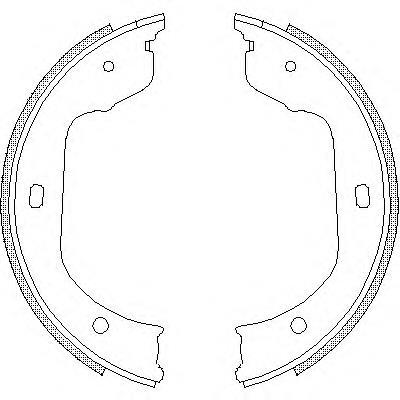 колодки ручника (стояночного тормоза)  Z474000