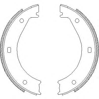 колодки ручника (стояночного тормоза)  Z440400