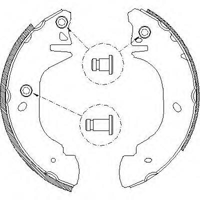 колодки тормозные задние барабанные  Z430500