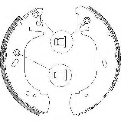 колодки тормозные задние барабанные  Z430600
