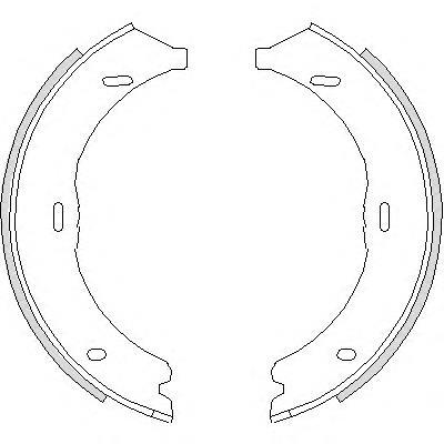 колодки ручника (стояночного тормоза)  Z474500