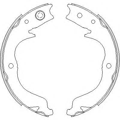 колодки ручника (стояночного тормоза)  Z474800