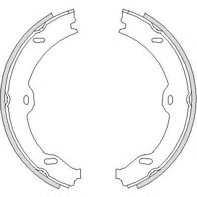 колодки ручника (стояночного тормоза)  Z470800
