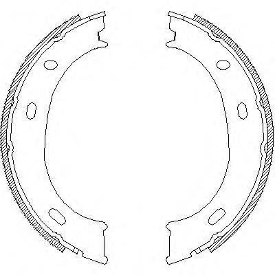 колодки ручника (стояночного тормоза)  Z471001