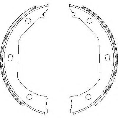колодки ручника (стояночного тормоза)  Z471600