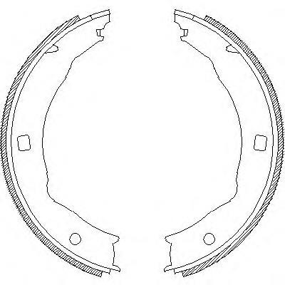 колодки ручника (стояночного тормоза)  Z471700