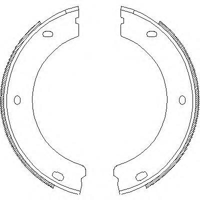 колодки тормозные задние барабанные  Z465200