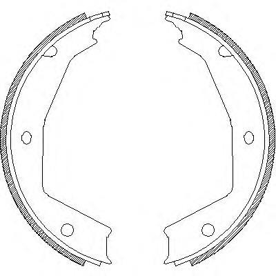 колодки ручника (стояночного тормоза)  Z470500