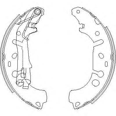 колодки тормозные задние барабанные  Z419200