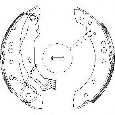 колодки тормозные задние барабанные  Z414900
