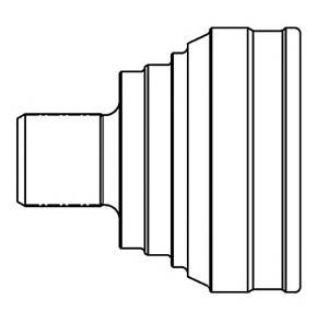 шрус наружный передний/задний  830002